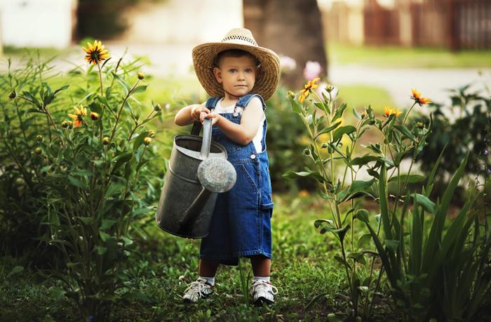 Kinder lieben die Natur.