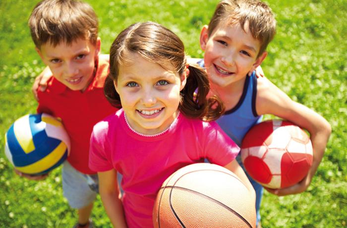 Schulsport ist wichtg für die Gesundheit.