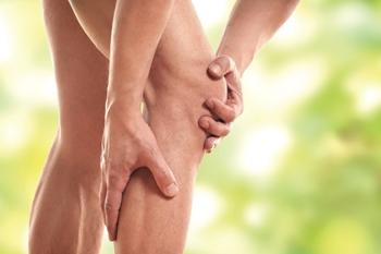 Stauchung im Bein