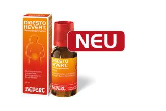 Digesto Hevert Verdauungstropfen ist ab September 2015 der neue Name für Pankreaticum-Hevert bei Verdauungsschwäche.