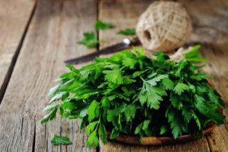 Die Petersilie ist sehr gesund und seit der Antike als natürliches Heilmittel geschätzt.